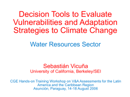 Decision Tools to Evaluate Strategies for Adaptation to