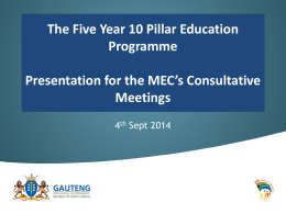 MEC Lesufi 5 year Plan Presentation Final