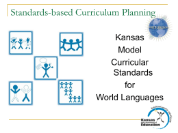 Kansas Model Curricular Standards for Foreign Languages