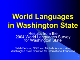 Washington State World Language Survey
