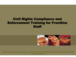 Civil Rights Compliance and Enforcement Training for
