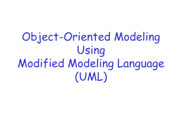 Object-Oriented Modeling Using Modified Modeling …