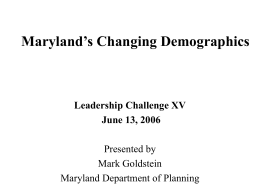 Maryland's Changing Demographics