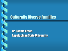 Culturally Diverse Families - Appalachian State University