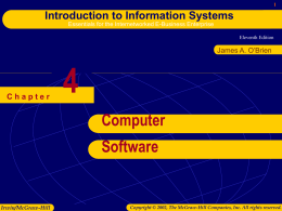 Chapter 4: Computer Software