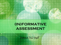 FORMATIVE ASSESSMENT - St. Cloud State University
