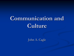 Communication and Culture - California State University