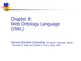 Chapter 8: Web Ontology Language