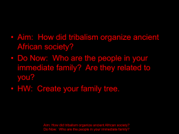 Traditional African Society - New York City Department …