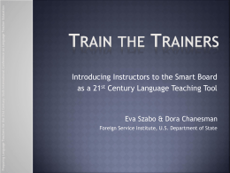 PowerPoint Presentation - Train the Trainers