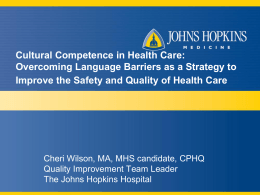5-Cultural Competence and Health Care