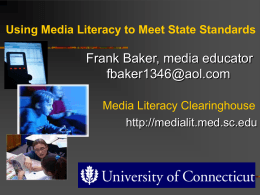 Using Media Literacy to Meet State Standards