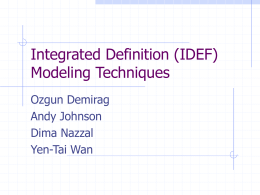 Introduction to IDEF Function and Information Modeling