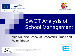 SWOT analysis of school's management