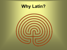 Why would anyone want to take Latin?