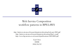 Workflow patterns in BPEL4WS