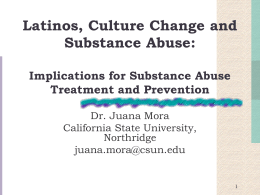 Cultural Considerations in Substance Abuse Treatment …