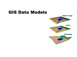 GIS Data Models - University of Texas at San Antonio