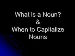 Nouns - Book Units Teacher