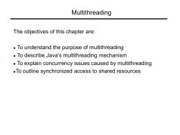 Multithreading - Dept. of Computer Science