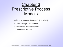 Chapter 3 Prescriptive Process Models