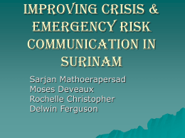 Improving Crisis & Emergency Risk Communication in …