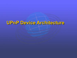 UPnP Device Architecture