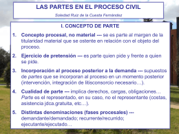 Power Point, LAS PARTES EN EL PROCESO CIVIL