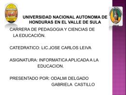 UNIVERSIDAD NACIONAL AUTONOMA DE HONDURAS …