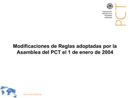 Modificaciones de Reglas adoptadas por la Asamblea del …