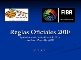 Reglas oficiales de Baloncesto 2006.