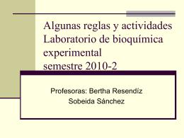 Calendario y actividades semestre 2010-2