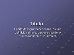 Titulo - Sitio Oficial del INDER