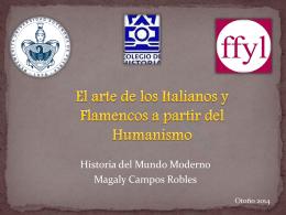 El arte de los Italianos y Flamencos a partir del Humanismo