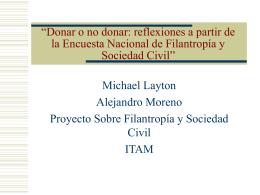 Donar o no donar: reflexiones a partir de la Encuesta