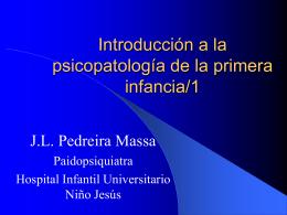 Introduccion a la psicopatologia de la primera infancia