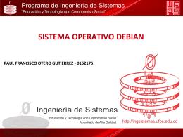 SISTEMA OPERATIVO DEBIAN