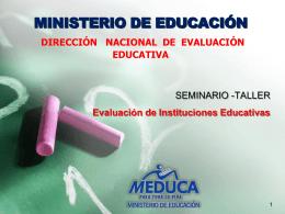 Diapositiva 1 - Ministerio de Educacion