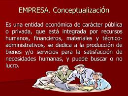 EMPRESA. Conceptualizacion