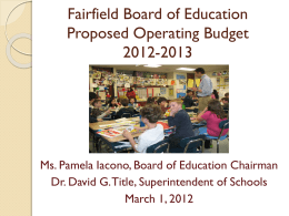 The Budget of the Fairfield Public Schools 2002-2003