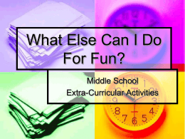 What Else Can I Do For Fun? - Wayne County School District
