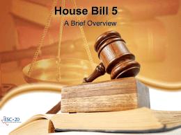 House Bill 5 - ESC-20