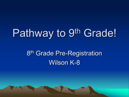 Pathway to 9th Grade! - Amphitheater Public Schools
