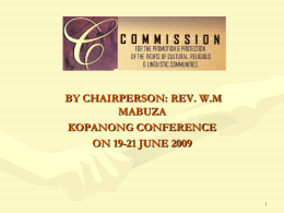 CRL RIGHTS COMMISSION