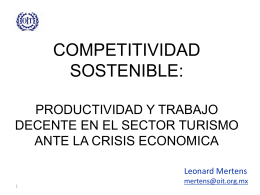 Diapositiva 1 - SIMAPRO TURISMO