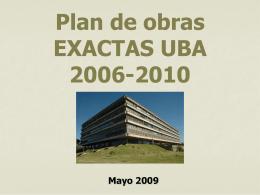 Plan de obras EXACTAS-UBA 2006-2010