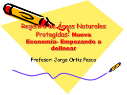Registro de Areas Naturales Protegidas