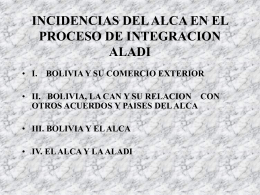 INCIDENCIAS DEL ALCA EN EL PROCESO DE …