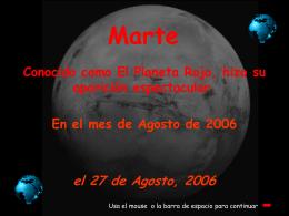 Marte en Agosto 2006