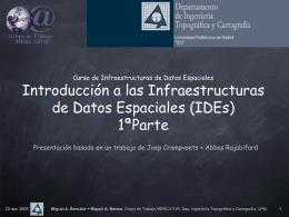 Curso de Doctorado Infraestructuras de Datos Espaciales